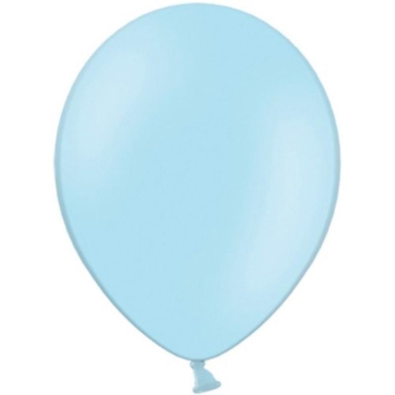 """Billede af 100 stk Standard lyseblå balloner - str 12"""""""