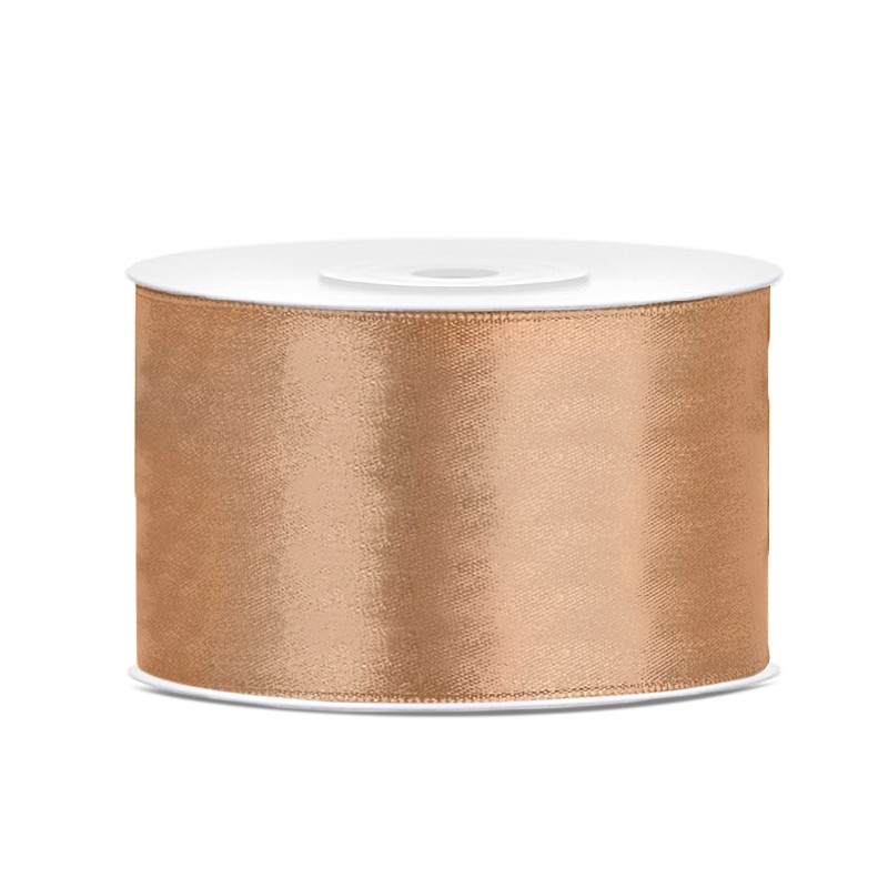 Billede af Satinbånd 38mm x 25m Guld - Glat silkelook