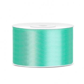 Satinbånd 38mm x 25m Mintgrøn - Glat silkelook