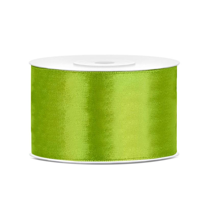 Billede af Satinbånd 38mm x 25m Lime - Glat silkelook