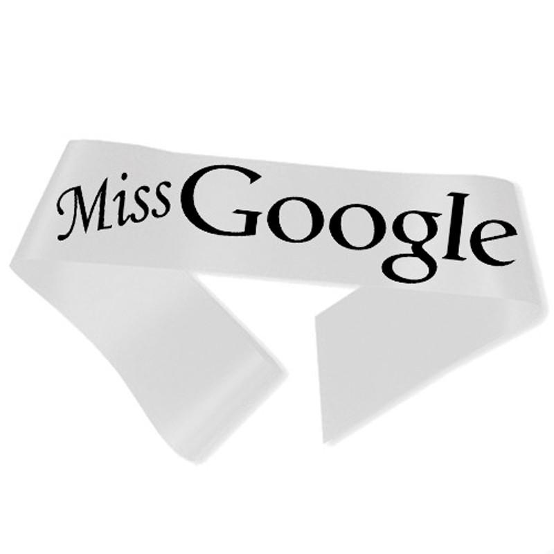 Miss Google Ordensbånd Hvid