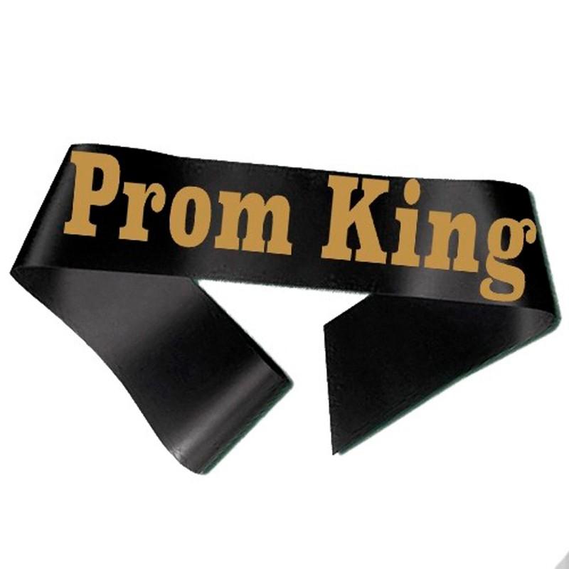 Billede af Prom King Ordensbånd Sort