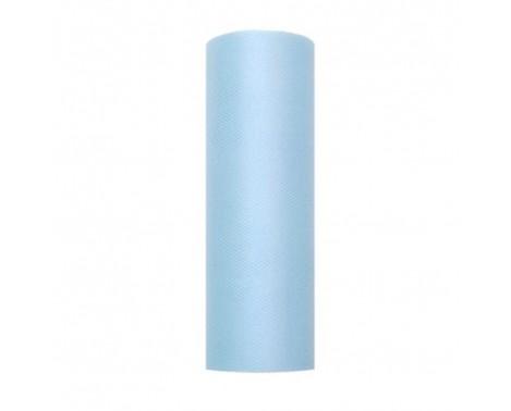 Tyl i Himmelblå 0,15 x 9 meter.