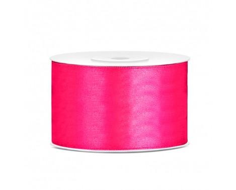 Satinbånd 38mm x 25m Mørke Pink - Glat silkelook