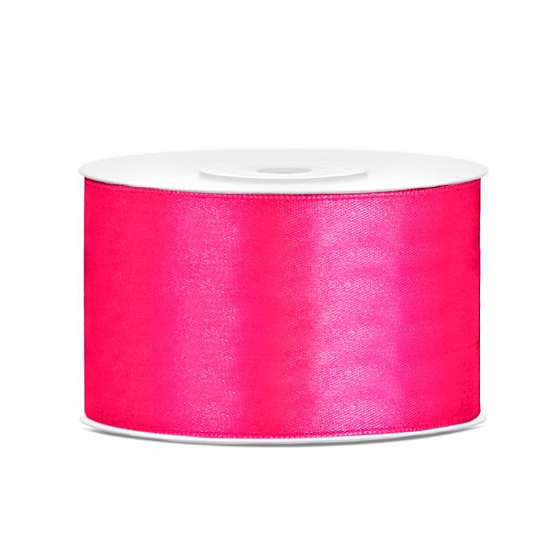 Billede af Satinbånd 38mm x 25m Mørke Pink - Glat silkelook