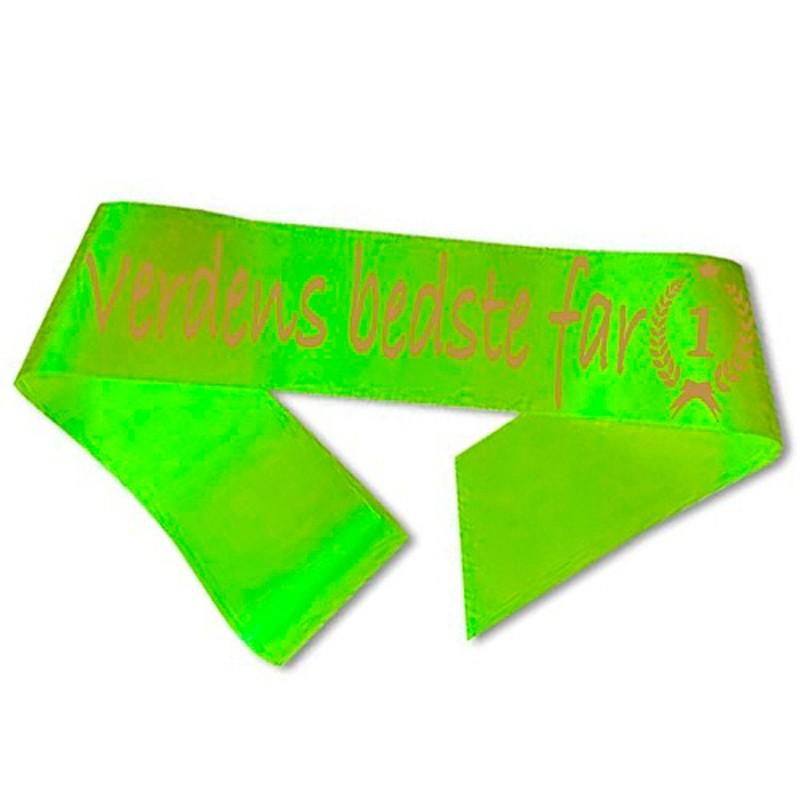 Verdens bedste far Ordensbånd Neongrøn