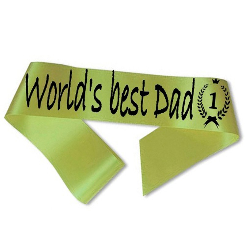 World´s best Dad Ordensbånd Limegrøn