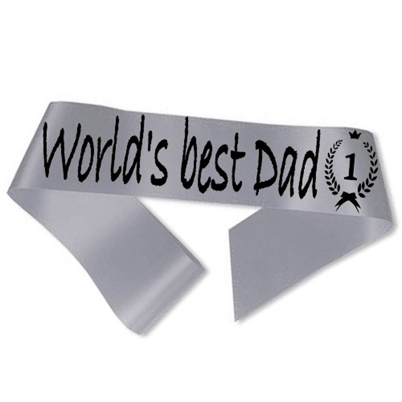 World´s best Dad Ordensbånd Sølv