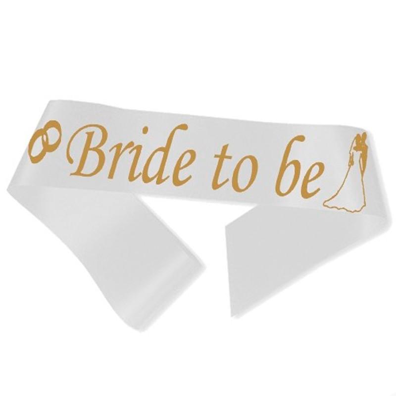 Image of   Bride to Be ordensbånd i hvid