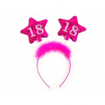 Hårbøjle Pink 18th Birthday
