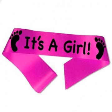 It´s A Girl! ordensbånd i fuchsia