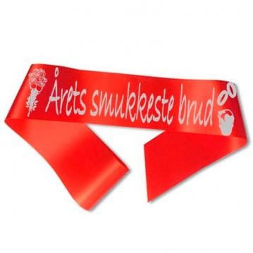 Årets smukkeste brud Ordensbånd Rød