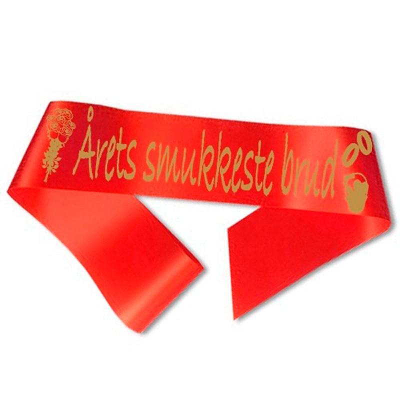 Billede af Årets smukkeste brud Ordensbånd Rød