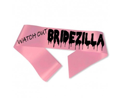 Watch Out Bridezilla Ordensbånd Pink