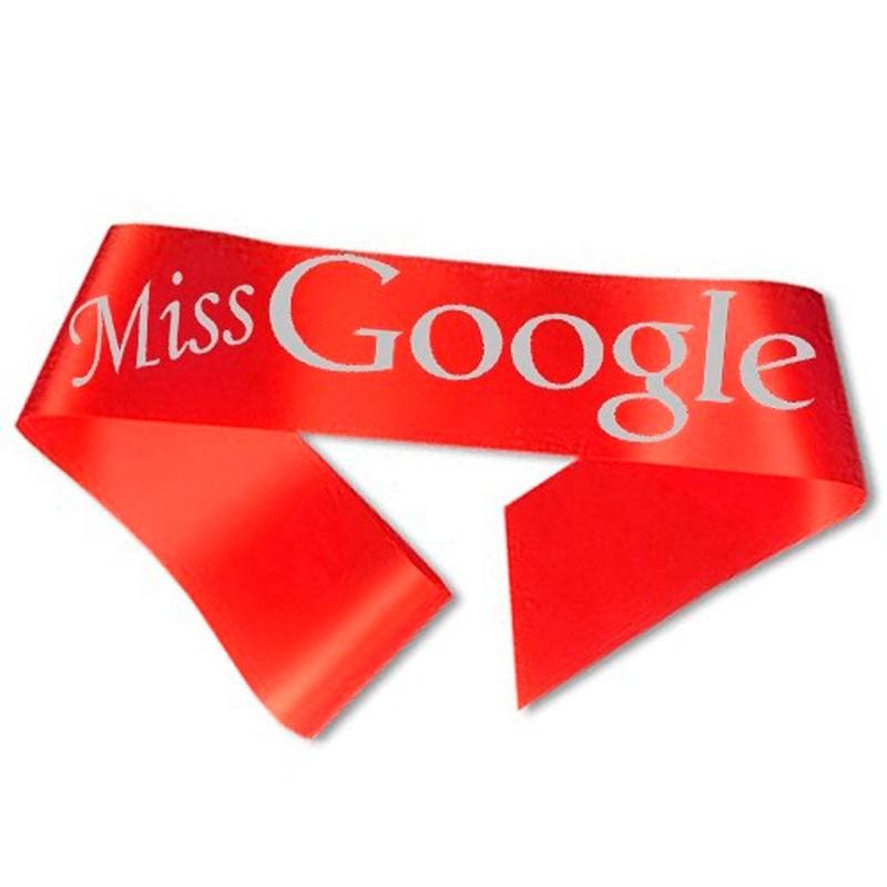 Miss Google Ordensbånd Rød