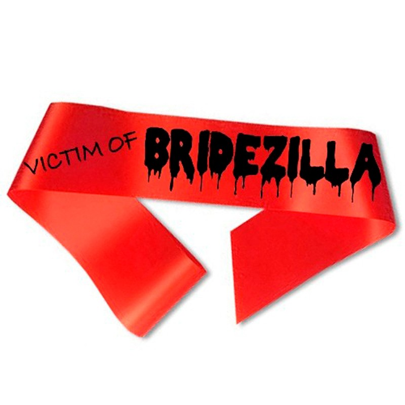 Billede af Victim of Bridezilla Ordensbånd rød
