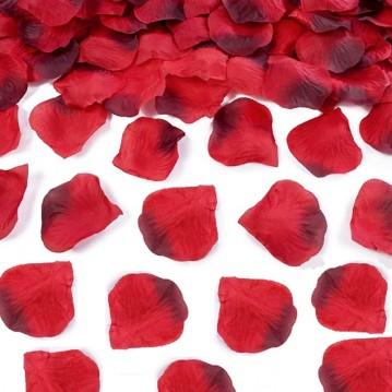 Rosenblade 500 stk røde og mørkerøde silke