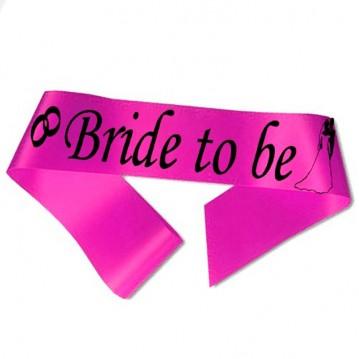 Bride to Be ordensbånd i fuchsia
