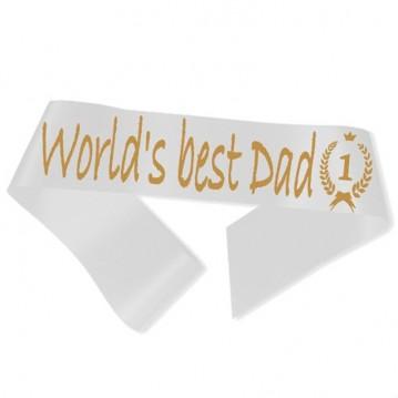 World´s best Dad Ordensbånd Hvid