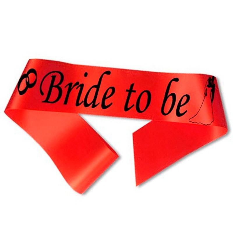 Image of   Bride to Be ordensbånd i rød