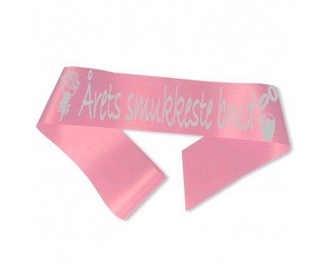 Årets smukkeste brud Ordensbånd Pink