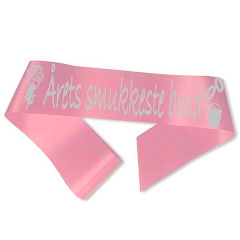 Billede af Årets smukkeste brud Ordensbånd Pink