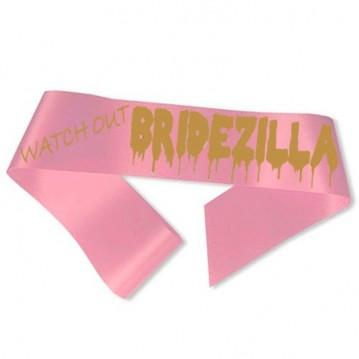 Watch Out Bridezilla Ordensbånd Pink
