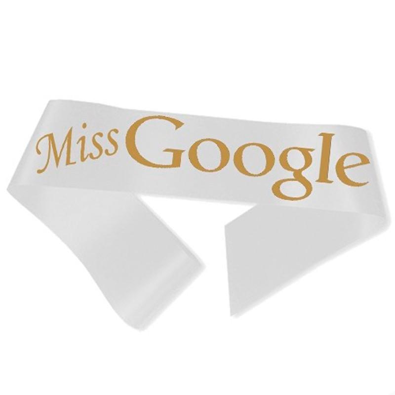 Billede af Miss Google Ordensbånd Hvid