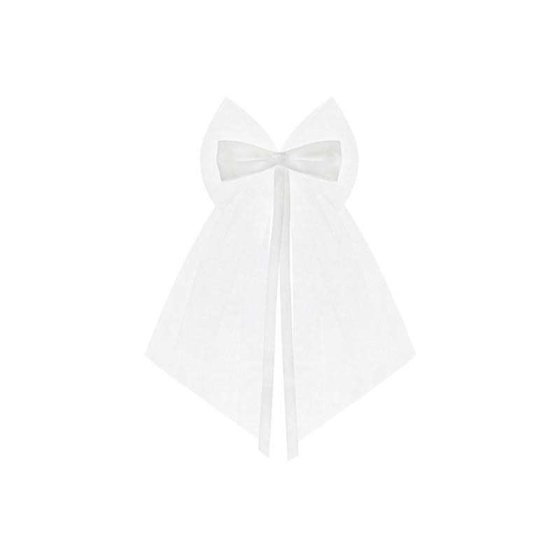 2 stk Hvid sløjfe bånd - Pynt til bilhåndtag