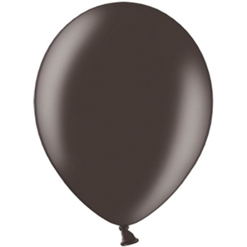 "100 stk Metallic sort balloner - str 12"""