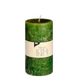 """Mørkegrøn """"Rustik"""" Lys  7 cm x 13 cm - 65 timer"""