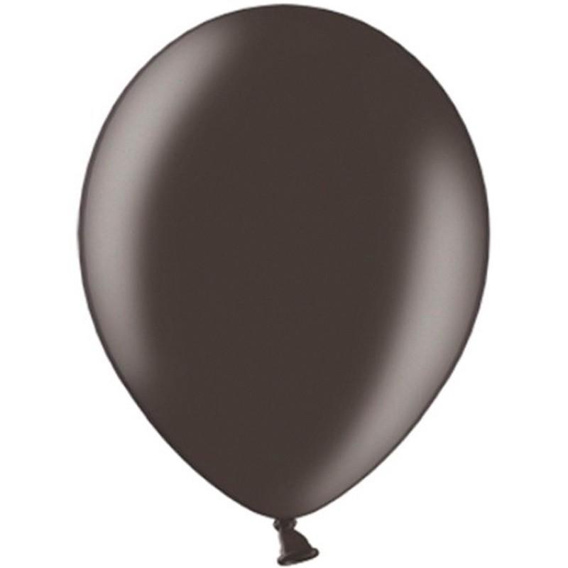 "100 stk Metallic sort balloner - str 10"""