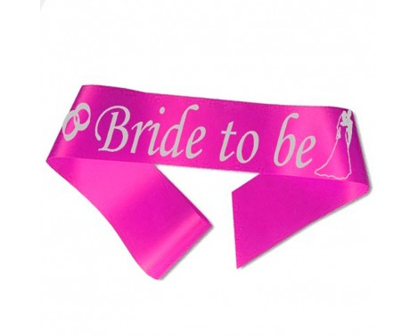 Bride to Be ordensbånd i fuchsia
