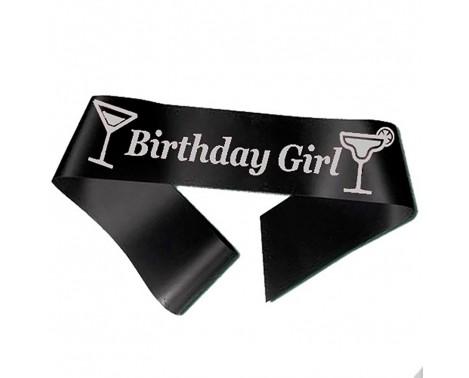 Birthday Girl ordensbånd i sort