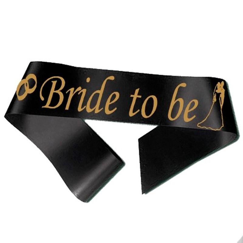 Image of   Bride to Be ordensbånd i sort