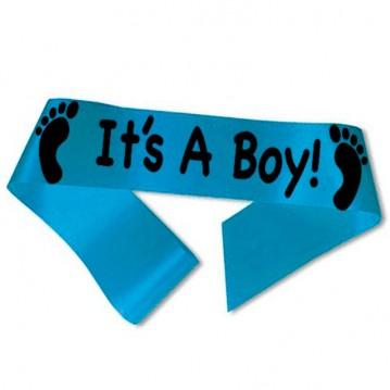 It´s A Boy! ordensbånd i aqua blå