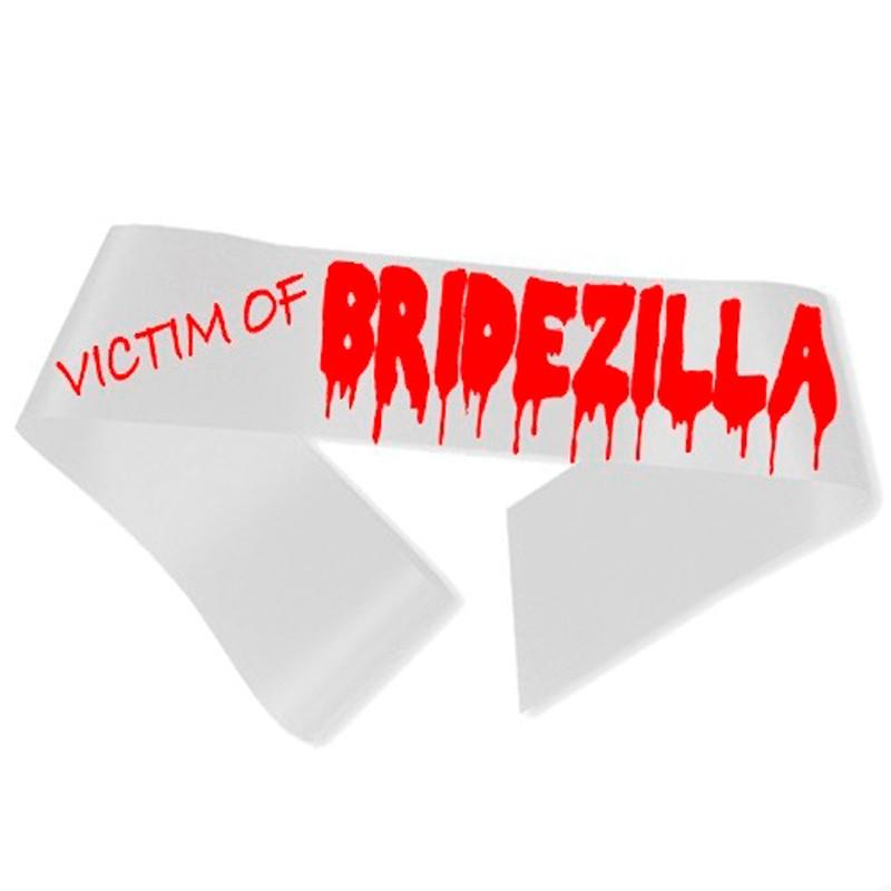 Billede af Victim of Bridezilla Ordensbånd hvid