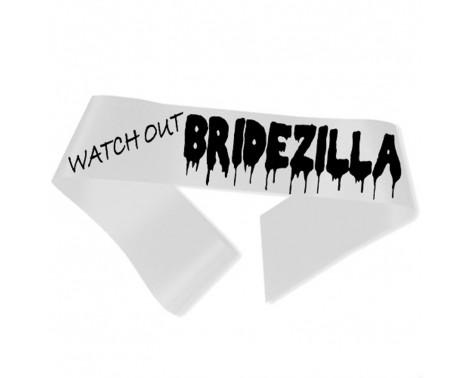 Watch Out Bridezilla Ordensbånd hvid