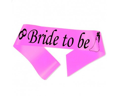 Bride to Be ordensbånd i neon pink