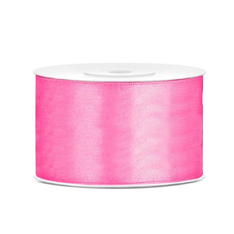 Billede af Satinbånd 38mm x 25m Pink - Glat silkelook