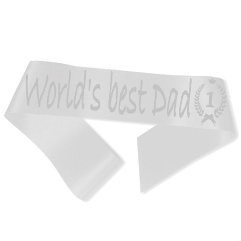 Billede af World´s best Dad Ordensbånd Hvid