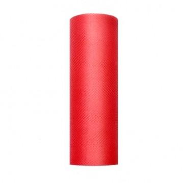 Tyl i Rød 0,15 x 9 meter.