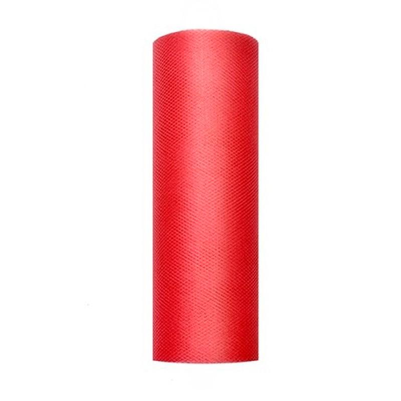 Billede af Tyl i Rød 0,15 x 9 meter.