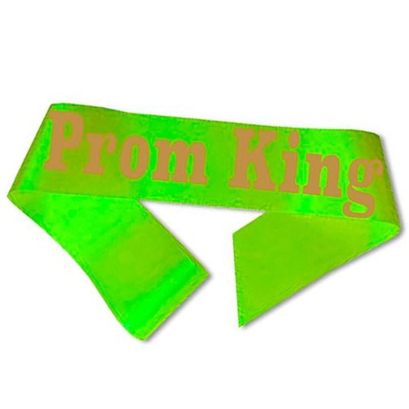 Billede af Prom King Ordensbånd neon Grøn