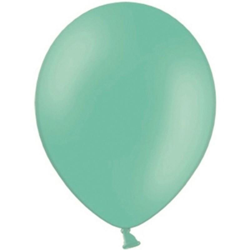 """Billede af 10 stk Standard mintgrøn balloner - str 12"""""""