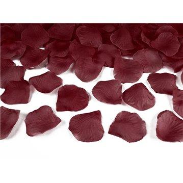 Rosenblade 100 stk mørk rød silke