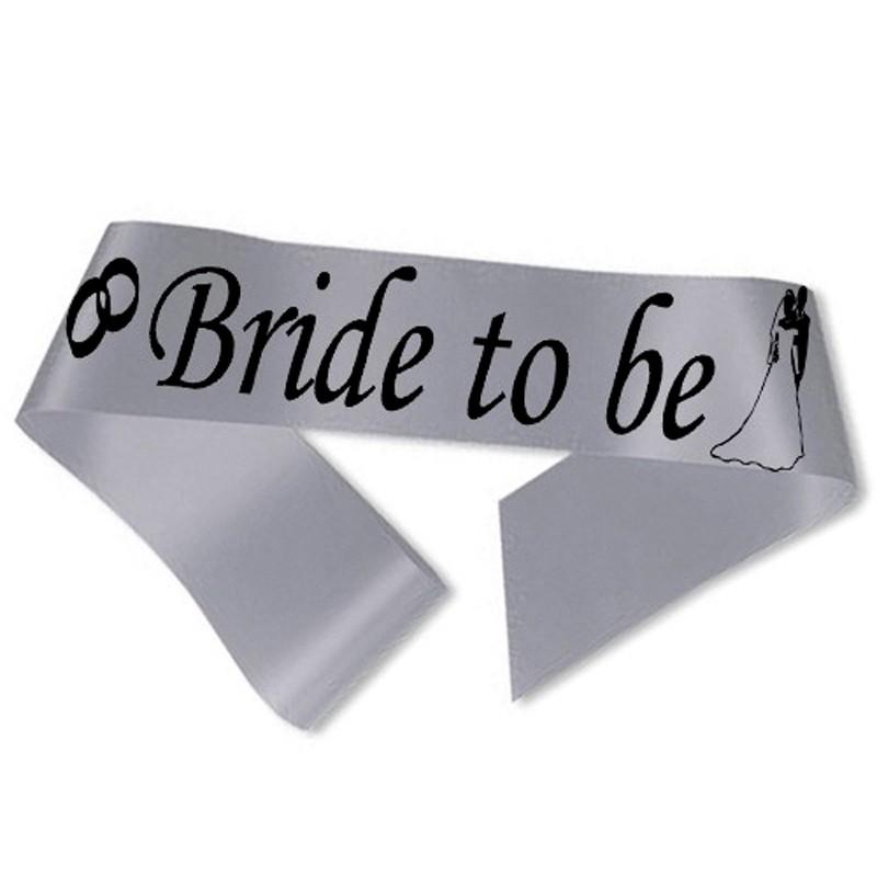 Image of   Bride to Be ordensbånd i sølv