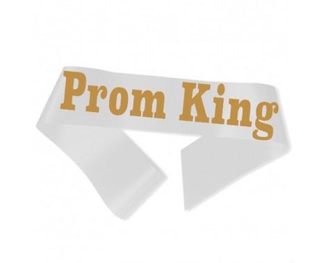 Prom King Ordensbånd Hvid