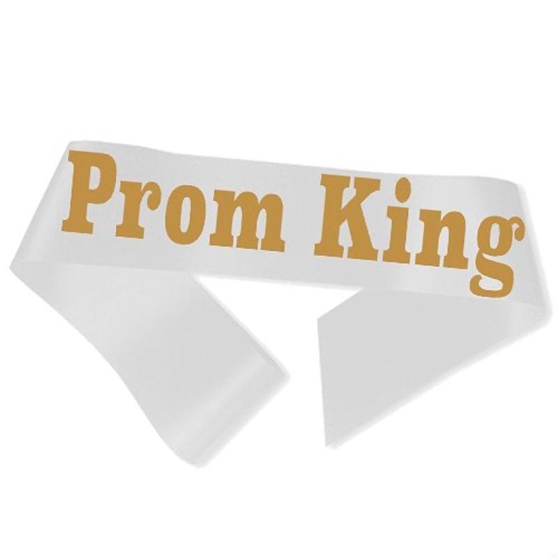 Billede af Prom King Ordensbånd Hvid