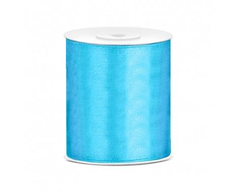 Satinbånd 100mm x 25m Himmelblå - Glat silkelook